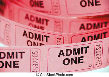 切符, 入(学・会)許可