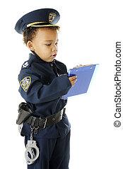 切符, 執筆, 警官