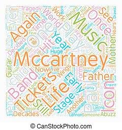 切符, 概念, リターン, テキスト, 見なさい、, wordcloud, mccartney, 背景, ポール, アイコン, ステージ