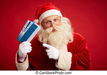 切符, 航空会社, santa