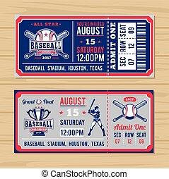 切符, 選手権, 野球, 古典である, ソフトボール
