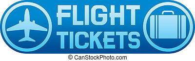 切符, 飛行