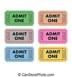 切符, 1に入ることを許しなさい