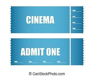 切符, 1枚のチケットを認めなさい, 映画館