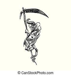 刈り取り機, 鎌, 頭骨, 厳格