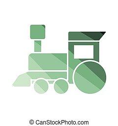列車, おもちゃ, アイコン