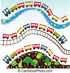 列車, おもちゃ, パターン