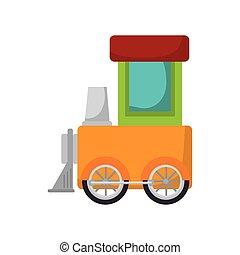 列車, おもちゃ, 子供
