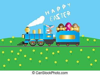 列車, イースター, 蒸気