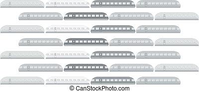 列車, ベクトル, イラスト