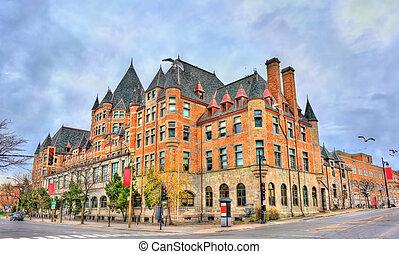列車, ホテル, -, viger, ケベック, 歴史的, 場所, 駅, canada., モントリオール