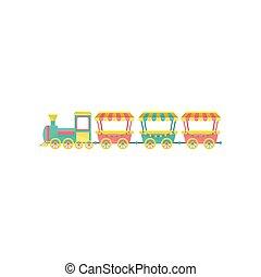 列車, 公園, イラスト, 要素, ベクトル, 背景, 白, 娯楽, 回転木馬