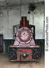 列車, 古い, 蒸気