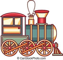 列車, 型, icon., ベクトル