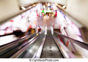 列車, 抽象的, ぼんやりさせられた, 駅, 人々