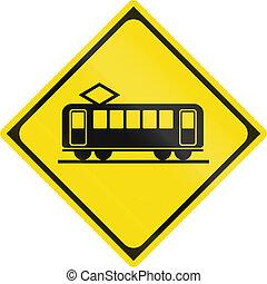 列車, -, 日本語, 印, 警告, 交差, 道