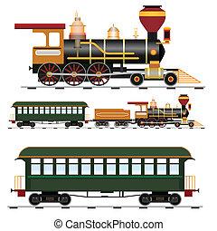 列車, 蒸気