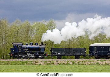 列車, netherlands, 蒸気