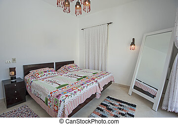 別荘, デザイン, 贅沢, 寝室, 内部, 休日