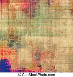 別, グランジ, 色, 黄色, (beige);, バックグラウンド。, blue;, (orange), green;, textured, patterns:, 古い, 赤