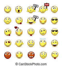別, セット, ムード, smiley, 黄色の額面