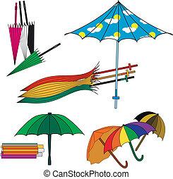 別, セット, 傘