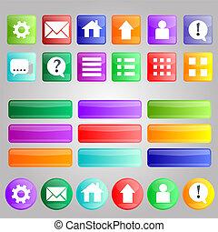 別, セット, 明るい, ボタン, 色, あなたの, design.