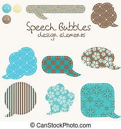 別, セット, 泡, デザイン, スピーチ, 要素