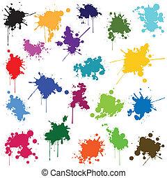 別, セット, 色, インク