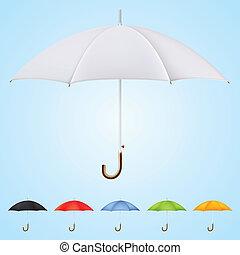 別, セット, 色, 傘, 6