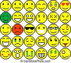 別, セット, emoticons