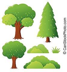別, タイプ, の, 木