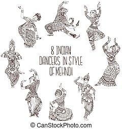 別, ダンサー, indian