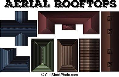別, デザイン, 屋根