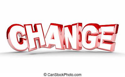 別, 単語, イラスト, 適応, 新しい, 変化しなさい, 3d