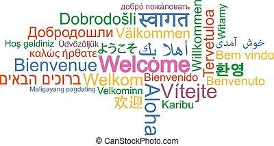 別, 単語, 多数, 歓迎, 言語, 雲