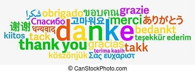 別, 単語, 感謝しなさい, カラフルである, 言語, あなた, 雲