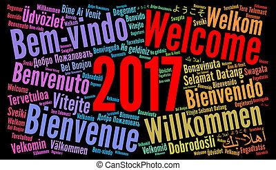 別, 単語, 歓迎, 言語, 2017, 雲