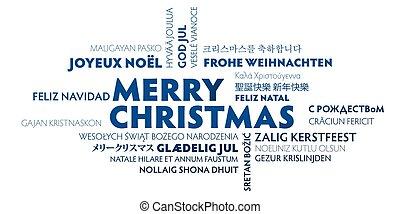 別, 単語, 言語, メリークリスマス, 雲