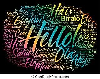 別, 単語, 言語, 世界, こんにちは, 雲
