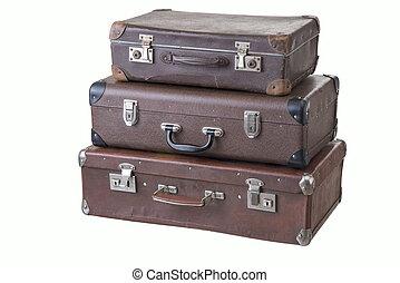 別, 古い, スーツケース, 型, 3, 大きさ