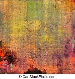 別, 古い, 色, 抽象的, 黄色, (beige);, 紫色, (orange), グランジ, green;, 背景, patterns:, (violet);, texture., 赤