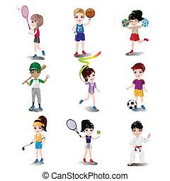 別, 子供, 遊び, 運動, スポーツ