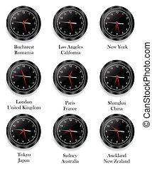 別, 時計, 地域, 時間