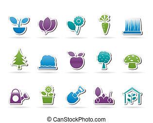 別, 植物, そして, 園芸, アイコン