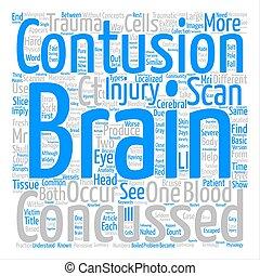 別, 概念, 単語, いかに, テキスト, 脳, 背景, concussions, contusions, 雲