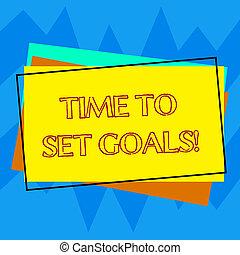 別, 概念, goals., 長方形, 手書き色, テキスト, 概説された, 時間, 未来, 執筆, 切望された, 意味, セット, 山, 達成しなさい, ブランク, 目的, 建設, 望まれる, paper.