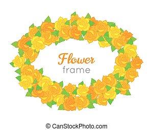 別, 花, frame., 花輪, 花, オバール