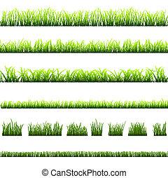 別, 草, コレクション, 緑, タイプ