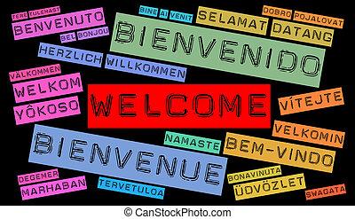 別, 言語, 歓迎
